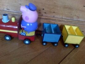 Peppa Pepper Pepa Pig lots of toys and accessories grandpa pigs train miniature locomotive Gertrude