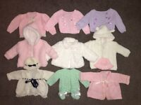 Baby girls newborn coats/cardigans bundle