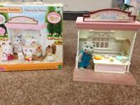 Sylvanian Family sweet stone shop with hippo chatacter