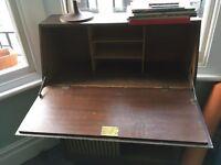 Vintage Wooden Bureau with stripe glass detail £50 ono