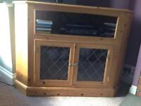 Wooden TV corner unit