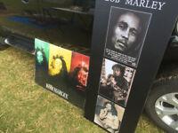 Bob Marley Canvas and flag poster