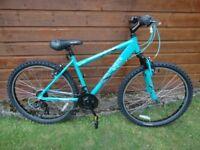 Apollo Entice mountain bike, 26 inch wheels, 21 gears, 17 inch lightweight aluminium frame