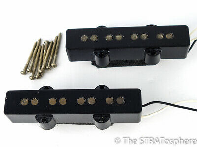 2 Vintage 60s ROAD WORN Fender JAZZ BASS PICKUPS Pickup Set Relic!