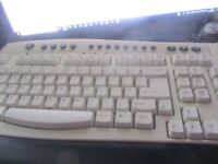 Aria Full Size PS/2 Keyboard with 23 Hotkeys