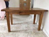 Solid Oak Kitchen Table Seats 4