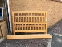 Solid Wood (Oak) king Size Bed
