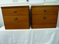 2 x Stag Cantata Teak Bedside Cabinets with Drawers