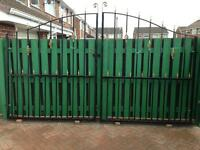 ***Heavy Iron Wrought Garden/Driveway Gates 12ft x 8ft***