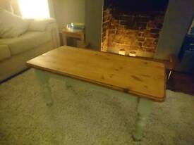 Vintage, restored wooden coffee table
