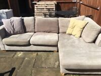 Corner Sofa House of Fraser Used, 3 years old fair condition hence price.