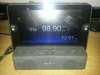 Sony dream machine made for ipod works with iphone, hardly used, excellent condition