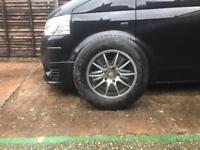 "5x120 titanium wheels 16"" of a vw t5"