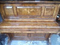 quality upright burr walunt piano