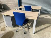Maple office desks as new condition £90 1.6 wide x 0.8 deep