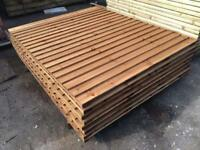 ☃️Brown Wayneylap Fence Panels > Excellent Quality < Pressure Treated > New