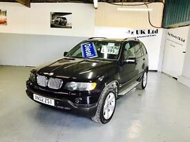 BMW X5 3.0D SPORT DIESEL AUTOMATIC, 2002 PLATE, 12 MONTHS MOT & FULL SERVICE HISTORY.