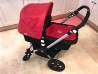 Bugaboo Cameleon 3 Stroller Bassinet Fabric (red) travel system