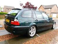 BMW E46 320D M SPORT / MAPPED WITH HSD COILOVERS ETC 11 MONTHS MOT