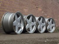 Azev deep diah alloy wheels, 4x100, 17inch, BMW e30 etc rare