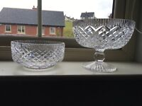 2 Tyrone Crystal Bowls-NO OFFERS