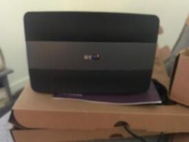 BT Infinity Router & Youview TV box