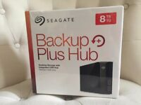 NEW Seagate Backup Plus (8TB) Hard Drive Integrated USB 3.0 Hub External