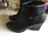 Dune black ankle boots