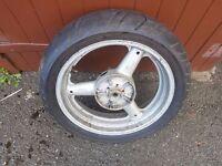 suzuki sv650 rear wheel and tyre