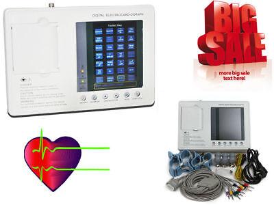 Digital 3 Channel 12-lead Ekg Machine Pc Software Electrocardiograph Us Seller