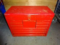 SNAP ON 10 DRAWER TOP BOX TOOL CABINET