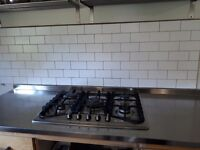 Baumatic hob and kitchen unit stainless steel