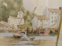 Watercolour of Polperro Harbour