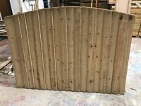 Super heavy duty bow top feather edge wooden fence panels pressure treated