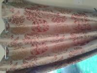 Curtains and cushion covers. dunelm mill curtains size 163 x229 and 163x183. 5 matching covers.