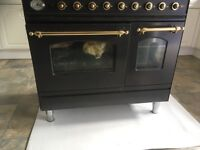 Double black and gold cooker