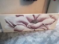 Large canvas with flower design
