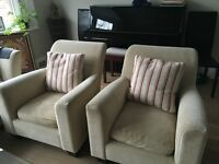 John Lewis arm chairs