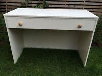 Lovely white desk/dressing table, ideal for kids bedroom