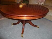 Mahogany quality reproduction coffee table- Shapes