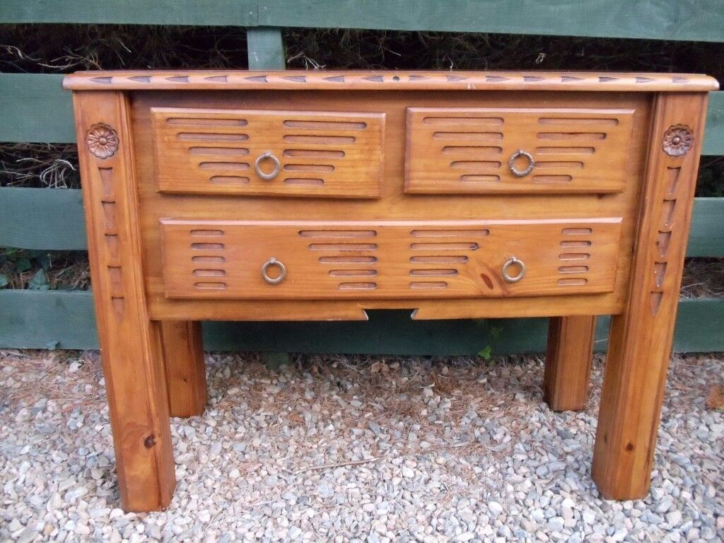 Harveys Mexican Style Furniture 3 Drawer Unit Coffee Table