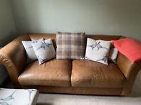 Indigo leather sofas