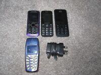4 MOBILE PHONES