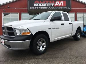 2012 Ram 1500 ST 4x4 Quad Cab 140 in. WB, WE APPROVE ALL CREDIT