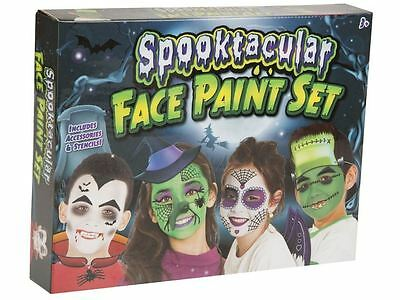 Child Face Paint For Halloween (Grafix Spooktacular Halloween Face Paints Set Make Up Kit For)