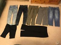 Ladies jeans and casual trousers bundle