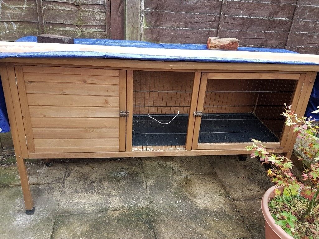 Large Rabbit hutch-solid, bargain