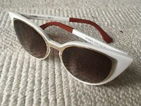 Fendi Paradeyes Sunglasses (cateye style) Ivory/Gold (white). Perfect Condition