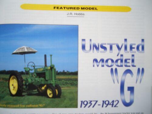 John Deere Unstyled Model G tractor 1937 - 1942, Model 70 Governor operation