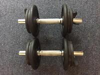 Domyos dumbbell set, 2x 10kg